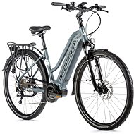 "Leader Fox Lucas 28"", Women's, Matte Grey/White - Electric Bike"