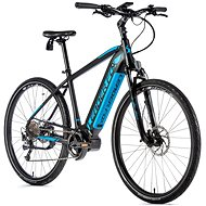 "Leader Fox Bend 28"", Matte Black/Blue - Cyclocross E-Bike"