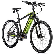 "Leader Fox Bend 28"", Matte Black/Green - Cyclocross E-Bike"