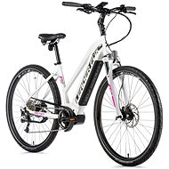 "Leader Fox Bend 28"", Matte White/Pink - Cyclocross E-Bike"