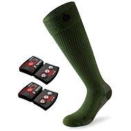 vyhřívané ponožky Lenz set heat sock 4.0 toe cap + lithium pack rcB 1200/green vel. 45-47 EU - vyhřívané ponožky