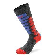 Lenz skiing kids 2.0 sv.šedá/červená/modrá 10 vel.35-37 - Dětské lyžařské ponožky