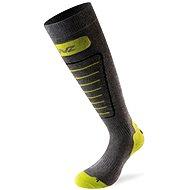 Lenz Skiing 1.0 šedá/zelená 40 - Lyžařské ponožky
