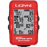 Lezyne Super GPS Special Edition - Red - Cyklocomputer