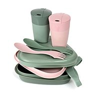 Light My Fire Pack´n Eat Kit BIO sandygreen/dustypink  - Outdoorové nádobí