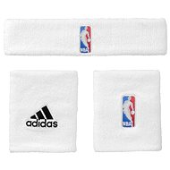 Adidas NBA Wristband prus Headband White Men - Sada