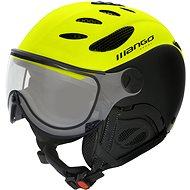 Mango Cusna VIP žlutá fluo/černá mat - Lyžařská helma