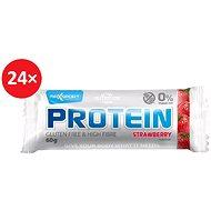 MAX SPORT PROTEIN jahoda gluten free 24 ks - Proteinová tyčinka