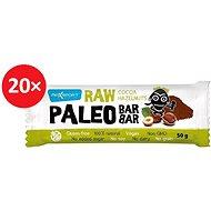 MAX SPORT RAW PALEO BAR kakao lískové oříšky 20 ks - Raw tyčinka