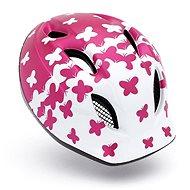 MET SUPER BUDDY dětská motýlci/růžová/bílá matná M/L - Helma na kolo