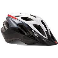 MET FUNANDGO bílá/černá/červená lesklá S/M - Helma na kolo
