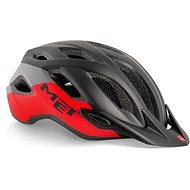 MET CROSSOVER černá/červená matná - Helma na kolo