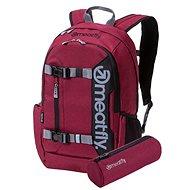 Meatfly Basejumper 5 Backpack Heather Burgundy + penál zdarma