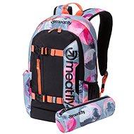 Meatfly Basejumper 5 Backpack Blossom Grey/Black + penál zdarma - Městský batoh