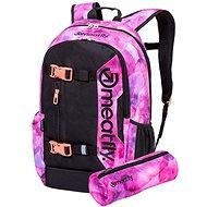 Meatfly Basejumper 6 Backpack, Universe Pink, Black - Batoh