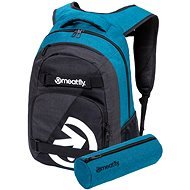 Meatfly Exile 5 Backpack, Heather Petrol, Heather Charcoal - Batoh