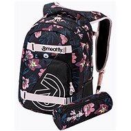 Městský batoh Meatfly EXILE Backpack, Hibiscus Black