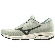 Mizuno WAVE RIDER WAVEKNIT3, Grey/Turquoise - Running Shoes