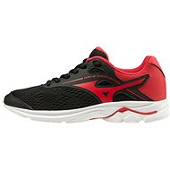 Mizuno WAVE RIDER 23 Jr, Black/Red - Running Shoes