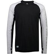 Mons Royale Temple Tech LS, Black/Grey Marl - Thermal Shirt