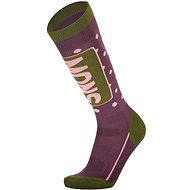 Mons Royale Mons Tech Cushion Sock, Blackberry/Avocado - Women's ski socks