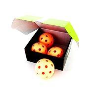 Unihoc míček Crater WFC orange 4-pack - Florbalový míček
