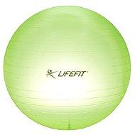 LifeFit Transparent 65 cm, sv. zelený - Gymnastický míč