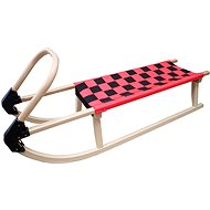Acra Sledge, All-Wooden with Straps, 110cm, Red - Sledge