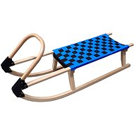 Acra wooden sled with straps 110 cm blue - Sledge