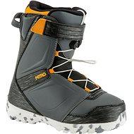 Nitro Droid QLS Charcoal - Black - Orange vel. 35 1/3 EU/ 225 mm - Boty na snowboard