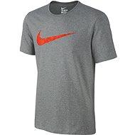 Nike TEE PALM PRINT SWOOSH Grey - Tričko