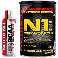 Nutrend N1, 510 g, černý rybíz + Nutrend BCAA Liquid, 500 ml