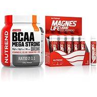 Nutrend BCAA Mega Strong Drink (2:1:1), 400 g, pomeranč + Magneslife, 10x25 ml