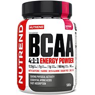 Nutrend BCAA Energy Mega Strong Powder, 500g, Raspberry