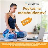 Online Fitness voucher Měsíční - Voucher