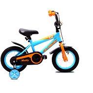 """OLPRAN Matty 12"""", modrá/oranžová - Dětské kolo 12"""""""