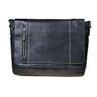 pánská kožená taška SEGALI 25581 černá - Taška na notebook