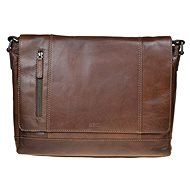 pánská kožená taška SEGALI 25581 hnědá - Taška na notebook