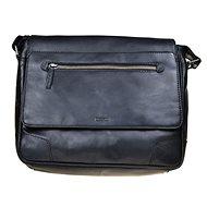 pánská kožená taška SEGALI 25580 černá - Taška na notebook