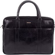 Pánská kožená taška SEGALI 7009 černá - Taška na notebook