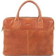Pánská kožená taška SEGALI 7015 koňak - Taška na notebook