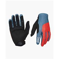 POC Essential Print Glove Cuban Blue/Prismane Red - Cyklistické rukavice