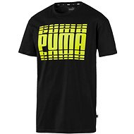 Puma Rebel Bold Tee black yellow - Tričko