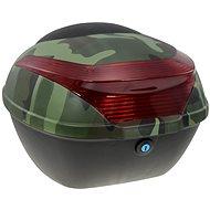 Zadní kufr k elektrickému motocyklu RACCEWAY E-BABETA, maskáč zelený - Kufr