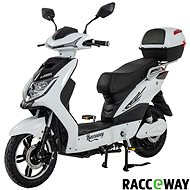 Racceway E-Fichtl, 20Ah, White-Glossy - Electric scooter
