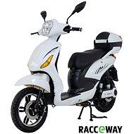 Racceray E-Moped, 12Ah, White-Glossy