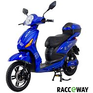 Racceway E-Moped 20AH modrý-lesklý  - Elektroskútr