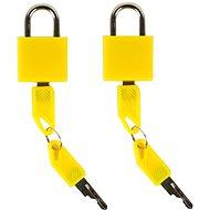 Rock 2ks TA-0009 - žlutá - Zámek na zavazadla