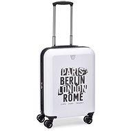 Roncato Next, 55 cm, 4 kolečka, EXP bílá - Cestovní kufr