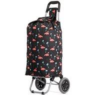 HOPPA ST-375, flamingo - Nákupní taška na kolečkách